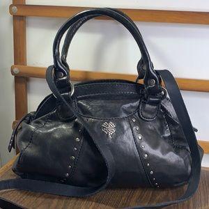 Lucky Brand Lambskin Studded Doctor Satchel Bag
